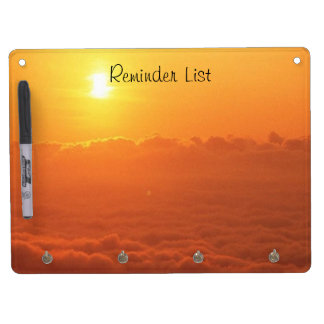 Sunset In The Clouds Reminder List Dry Erase Board With Keychain Holder