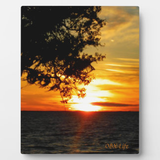 Sunset in the Cold Gifts Photo Plaque