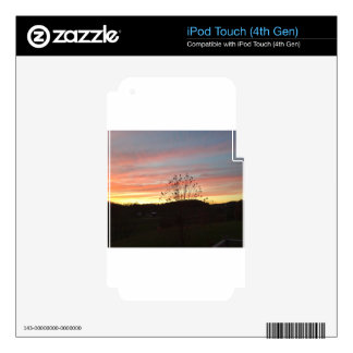 Sunset in the country decal for iPod touch 4G