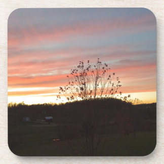 Sunset in the country drink coaster