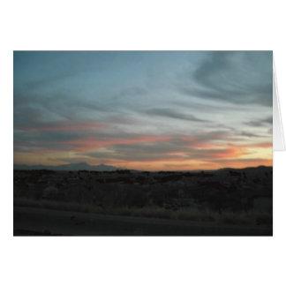 Sunset in the desert Card