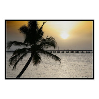 Sunset In The Florida Keys Poster