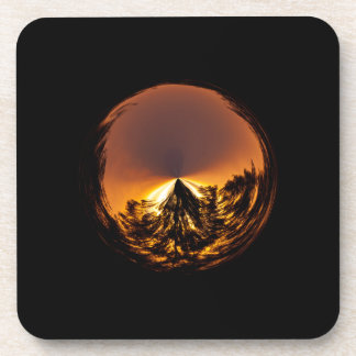 Sunset in the globe coasters