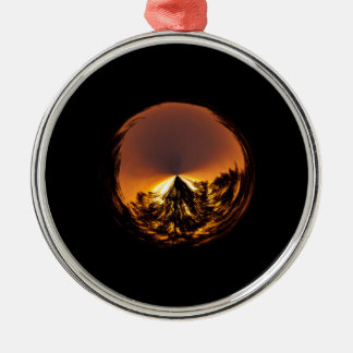 Sunset in the globe metal ornament