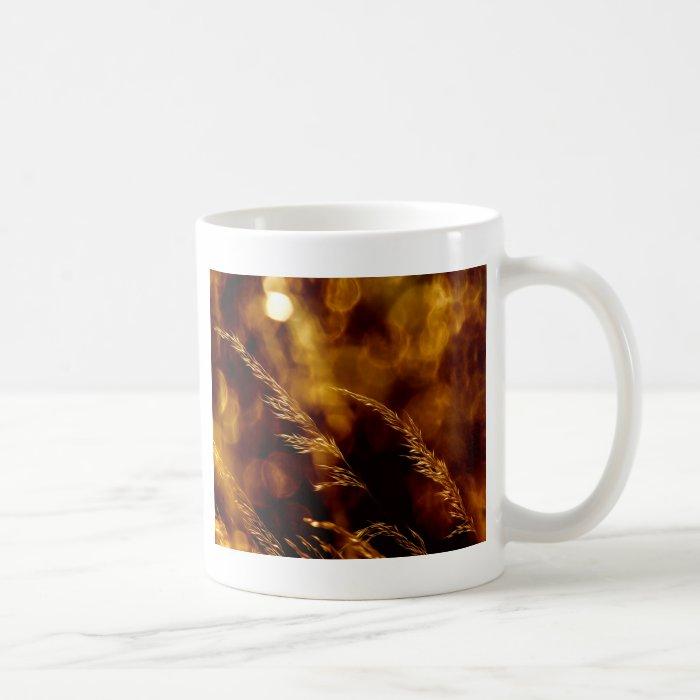 Sunset in the grass coffee mug