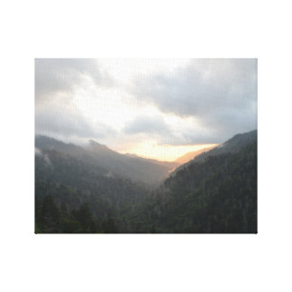 Sunset in the Great Smoky Mountains Canvas