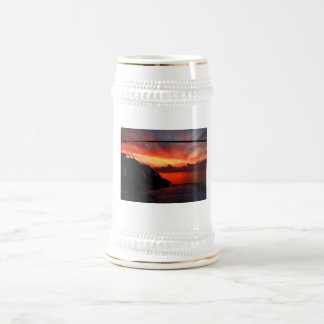 Sunset in the Gulf of Mexico by Nature Bug 18 Oz Beer Stein