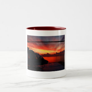 Sunset in the Gulf of Mexico by Nature Bug Two-Tone Coffee Mug