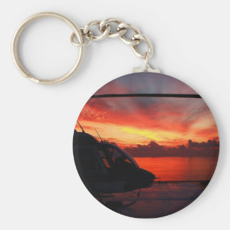 Sunset in the Gulf of Mexico Basic Round Button Keychain