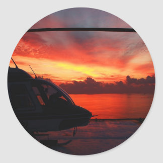 Sunset in the Gulf Classic Round Sticker