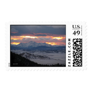Sunset in the Mountains Postage