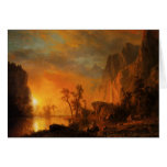 Sunset in the Rockies Greeting Card