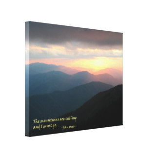 Sunset in the Smokies: Mtns are calling / Muir Canvas Print
