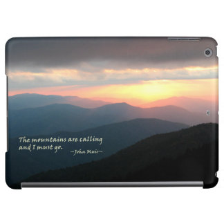 Sunset in the Smokies: Mtns are calling / Muir iPad Air Cover