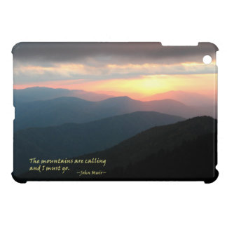 Sunset in the Smokies: Mtns are calling / Muir iPad Mini Cover