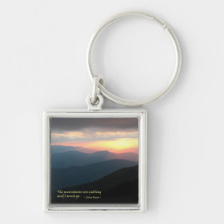 Sunset in the Smokies: Mtns are calling / Muir Keychain