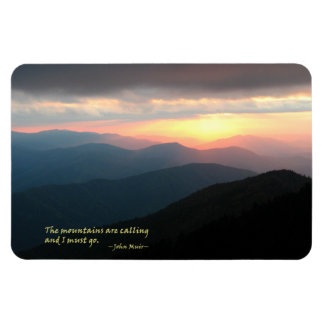 Sunset in the Smokies: Mtns are calling / Muir Magnet
