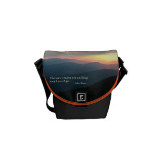Sunset in the Smokies: Mtns are calling / Muir Messenger Bag