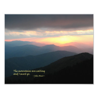 Sunset in the Smokies Mtns are calling Muir Photo Art