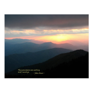 Sunset in the Smokies: Mtns are calling / Muir Postcard