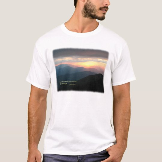 Sunset in the Smokies: Mtns are calling / Muir T-Shirt