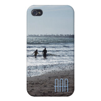 Sunset in the Surf Initial Template Phone Case iPhone 4 Cover