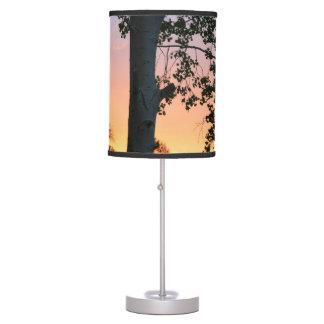 Sunset in the Trees Desk Lamp