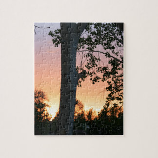 Sunset in the Trees Jigsaw Puzzle