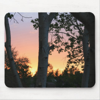 Sunset in the Trees Mousepad
