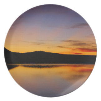 Sunset in the West Photo Table Setting Plate