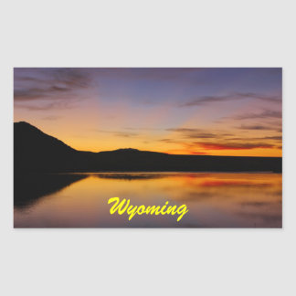 Sunset in the West Wyoming Photo Rectangular Sticker