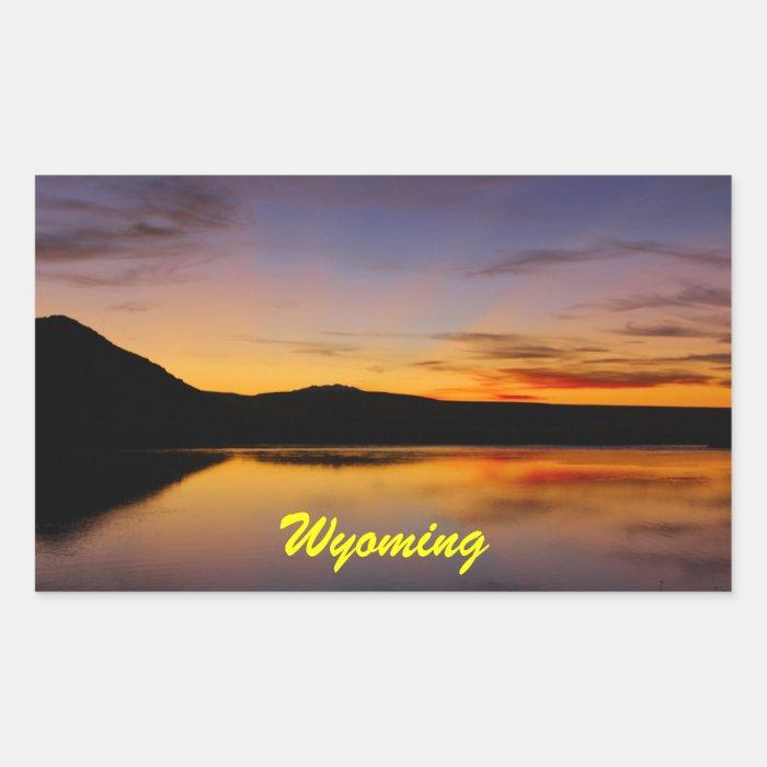 Sunset in the West Wyoming Photo Rectangular Sticker