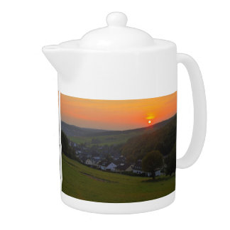 Sunset in the winner country, Gernsdorf Teapot