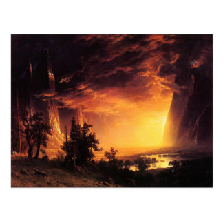 Sunset in the Yosemite Valley Postcard