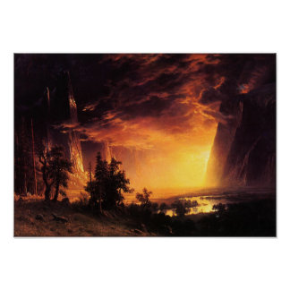 Sunset in the Yosemite Valley Poster
