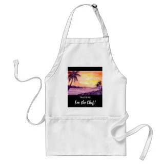 Sunset in Tropics by Farida Greenfield Adult Apron
