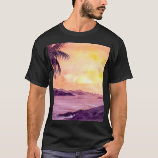 Sunset in Tropics by Farida Greenfield T-Shirt