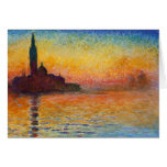 Sunset in Venice, Claude Monet Greeting Card