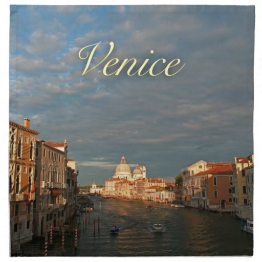Sunset in Venice Italy Napkins