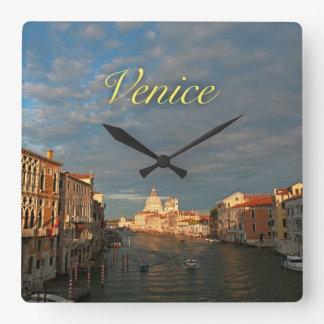 Sunset in Venice Italy Wallclock