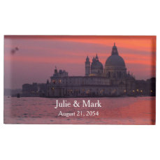 Sunset in Venice Place Card Holder