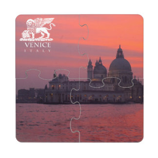 Sunset in Venice Puzzle Coaster