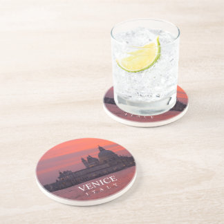 Sunset in Venice Sandstone Coaster