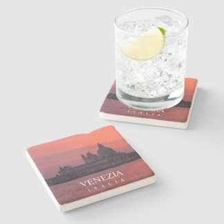 Sunset in Venice Stone Coaster