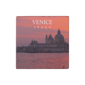 Sunset in Venice Stone Magnet
