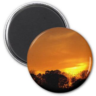 Sunset in Virginia Beach, VA magnet.