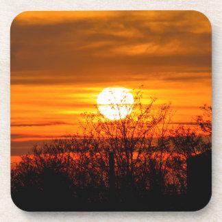 sunset in winter coaster