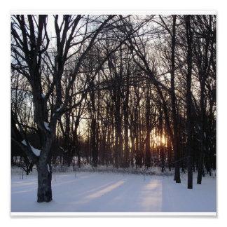 sunset in winter photo print