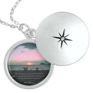 Sunset in Zmbales, Philippines Silver Locket