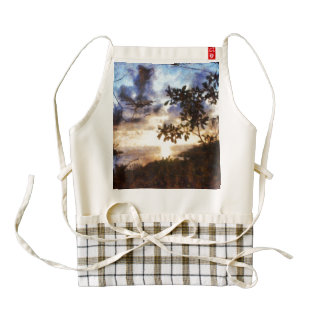 Sunset incredible zazzle HEART apron